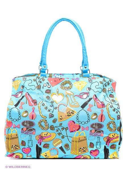 Venera, голубая сумка с веселым принтом