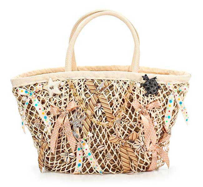 Lalu, соломенная сумка бежевого цвета