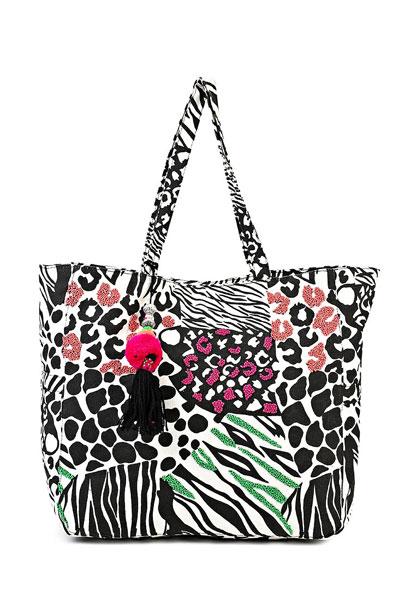 River Island, текстильная сумка с оригинальным принтом